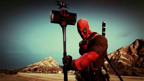 mod gta 5 deadpool deadpool weapons pack gta5 mods com