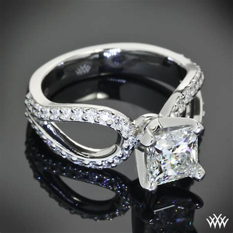 customized infinity engagement ring pricescope