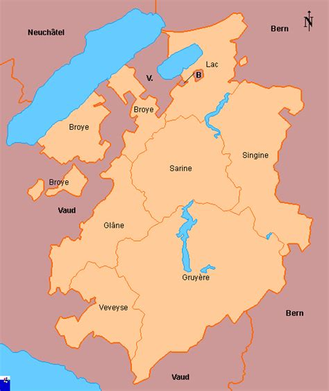 clickable map of fribourg districts switzerland