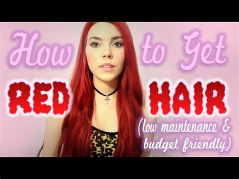 tutorial on how to get bright red hair without bleaching how to get bright red hair low maintenance and budget