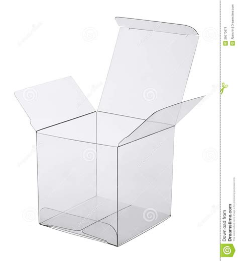 Box Of Transparent Plastic Stock Image   Image: 29570671