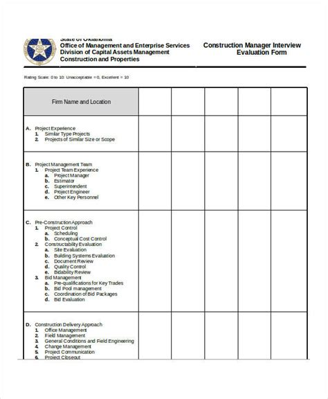 Manager Tools One On One Template general evaluation template individual evaluation form tools and templates golden speakers