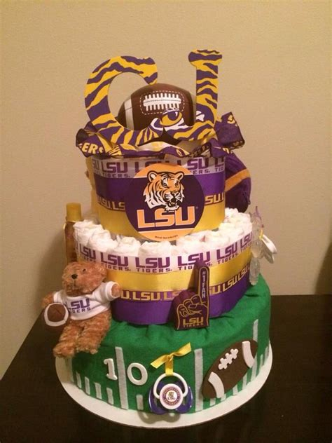 Baby Shower Football Cakes by Lsu Football Theme Baby Shower Cake Baby Shower