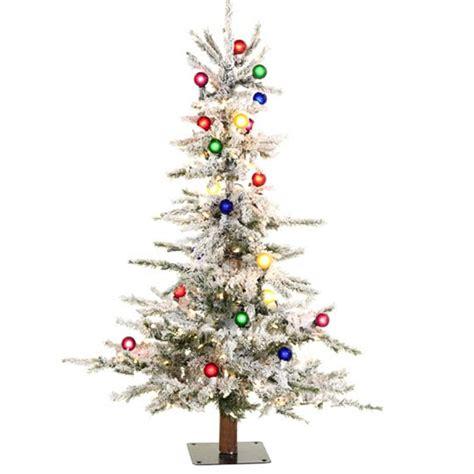 8 ft flocked slim christmas tree shelley b decor and more 4 ft flocked slim tree