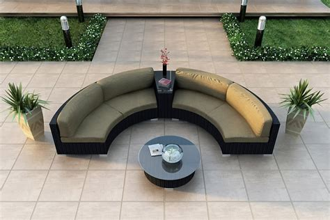 Curved Garden Sofa modern wicker sectional outdoor sofa sets curved outdoor sofa