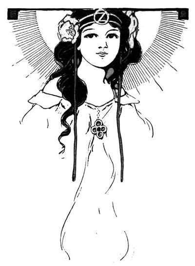 Ancient Goddess Coloring Page | Art, The wonderful wizard