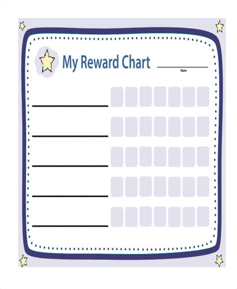Blank Reward Chart Template 9 reward chart templates word pdf free premium