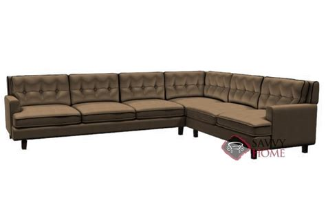 barbara leather true sectional by palliser is fully