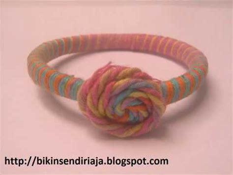 membuat gelang benang cara mudah membuat gelang dari benang wol youtube
