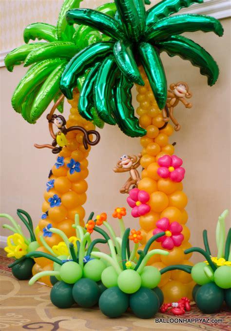 Hawaiian Balloon Decorations balloon happy az aloha mitzvah a luau in balloons