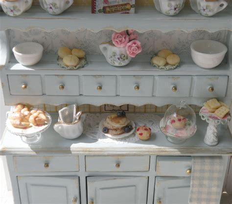 reserved miniature shabby chic kitchen hutch