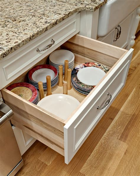 Kitchen Drawers For Dishes Dish Drawer Pegs Traditional Kitchen Drawer Organizers