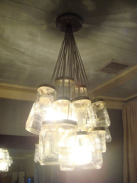 From A Chandelier Ordinary Diy Jar Chandelier Must Do