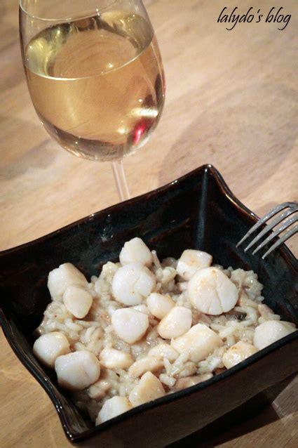 cuisiner les coquilles st jacques surgel馥s risotto de jacques aux chignons lalydo s