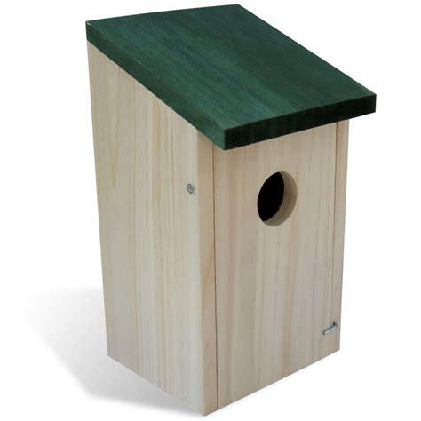 casa de pajaro casa de p 225 jaro nido de aves madera 4 piezas vidaxl es