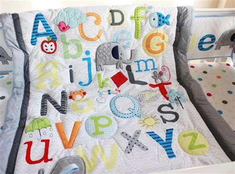 Baby Boy Cot Quilt Sets by Abc Characters Newborn Baby Boy Crib Bedding Set 4pc Cot
