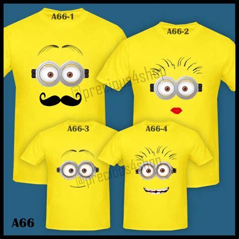 Kaos Pria Design Musician Minions minion family kaos t shirt