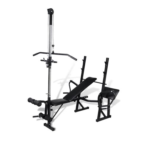 bench leg pull in adjustable exercise bench w pull down leg curl buy