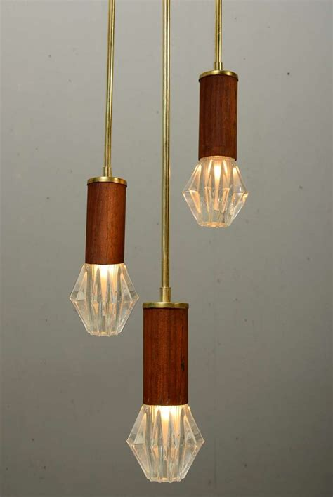 Mid Century Light Fixtures Pair Hanging Mid Century Light Fixtures At 1stdibs