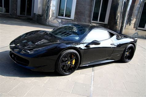 all black ferrari ferrari 458 black carbon edition by anderson germany goes
