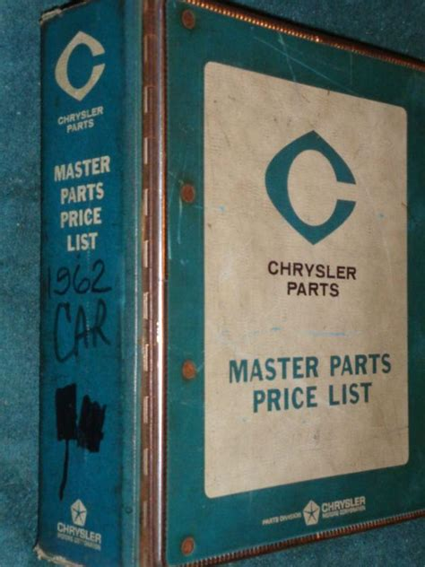chrysler original parts find 1962 dodge plymouth chrysler imperial parts catalog