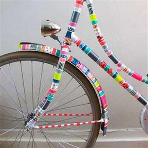 bathroom tape bike colorful decorating ideas for bike frames crafts for kids