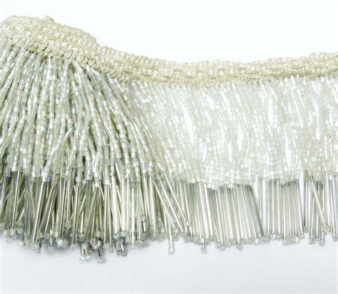 beaded fringe uk upholstery decorative white beaded fringe ribbon curtain