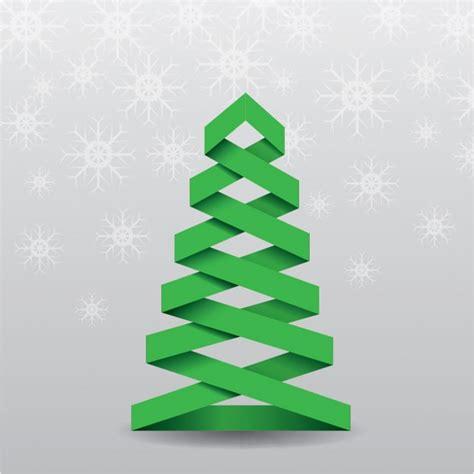 origami weihnachtsbaum download der kostenlosen vektor