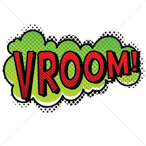 v room vroom text with comic effect vector image 1823033 stockunlimited