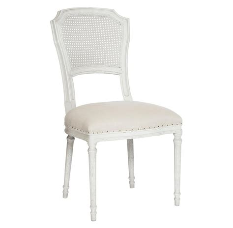 Shabby Chic Dining Chair Pair Camilla Country White Wash Shabby Chic Dining Chair
