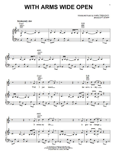 tutorial piano open arms with arms wide open sheet music direct
