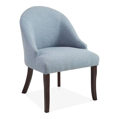 blue wool upholstered harlow accent chair modern dining chairs