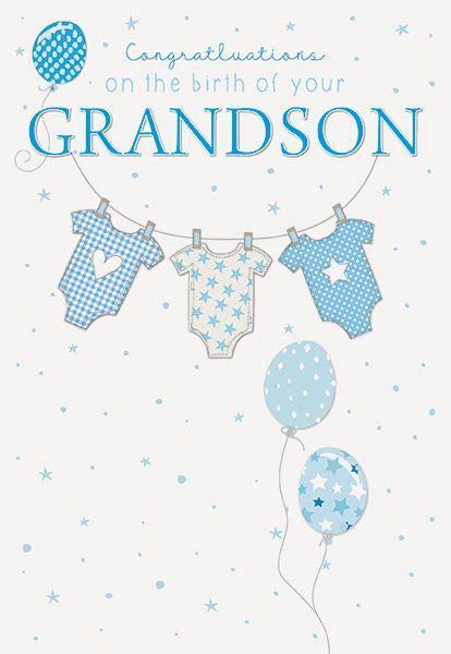 congratulations   birth   grandson greeting card