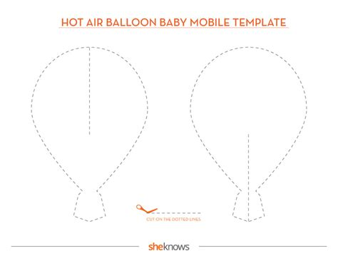 Air Balloon Mobile Template This Diy Hot Air Balloon Mobile Is Perfect For A Baby S Room