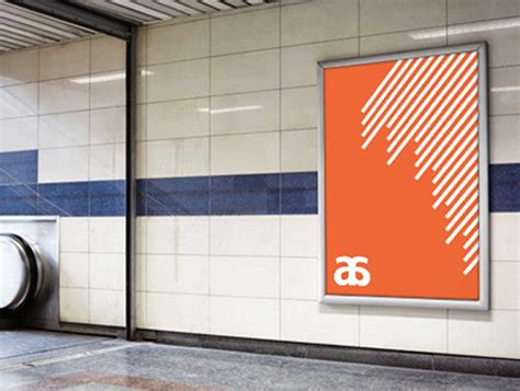 Subway And Outdoor Billboard Poster Psd Mockup Psd Mockups Subway Poster Template