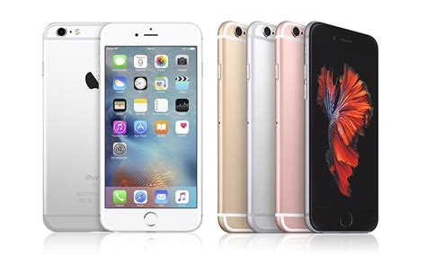 apple iphone 6s or 6s plus gsm unlocked manufacturer refurbished groupon