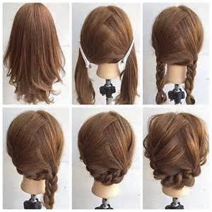easy buns for shoulder length hair fashionable braid hairstyle for shoulder length hair diy