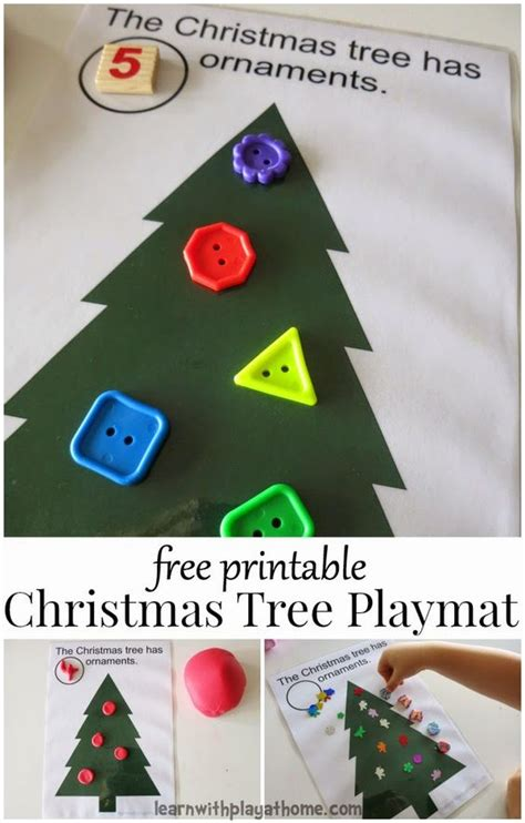 printable christmas playdough mats christmas tree play mat free printable christmas trees