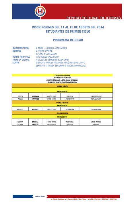 cronograma de actividades junio 2015 centro de idiomas unsa centro cultural de idiomas