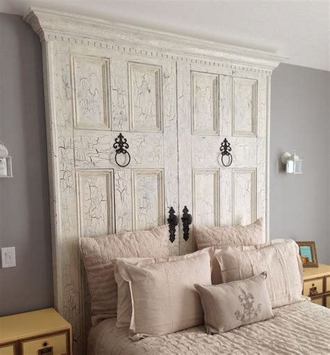 Diy Door Headboard by Best 25 Antique Door Headboards Ideas On Door