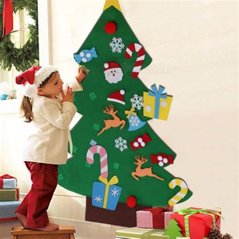 kids diy felt christmas tree with ornaments special