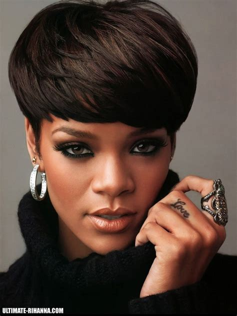rihanna hairstyles cut rihanna mushroom cut hairstyle short hair short