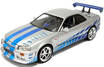 Decal 2 Fast 2 Furious For Hotwheels R34 ertl 33447 nissan skyline silver blue decals fast furious 2 1 18th scale