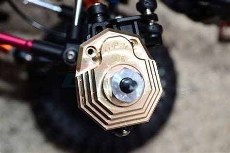 au housing portal rcjaz au traxxas trx4 trail crawler brass outer portal drive housing front or rear