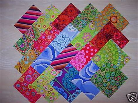 Patchwork Promotions - lot de 20 coupons de tissus patchwork kaffe fassett 10x10cm