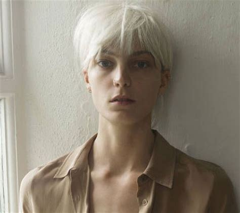 short white hair girl with short blonde hair short hairstyles 2017 2018