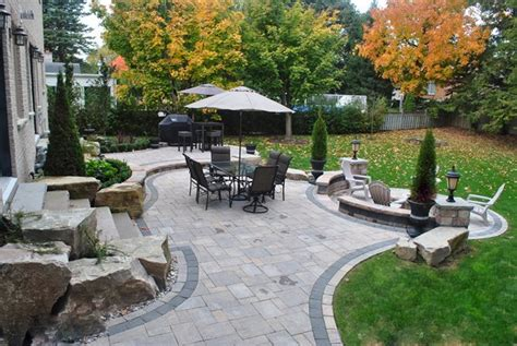 Backyard Ideas With Pavers Backyard Landscaping Whitby On Photo Gallery Landscaping Network