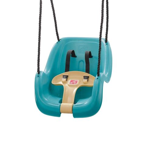 infant swing step 2 infant toddler swing in turquois 729399 the home