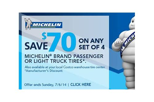 costco coupons michelin tires
