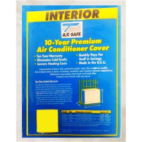 Interior Air Conditioner Cover by Ac Safe Premium Interior Air Conditioner Cover Large Ac